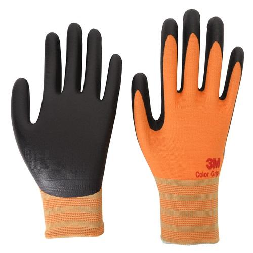 미국 3M 안전장갑 NBR폼코팅장갑 컬러그립 오렌지M -판매단위10개한팩.쓰리엠.공구나라
